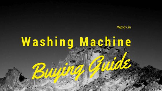 Buying Guide for Washing Machine