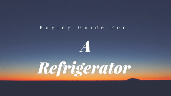 Buying Guide for a Refrigerator