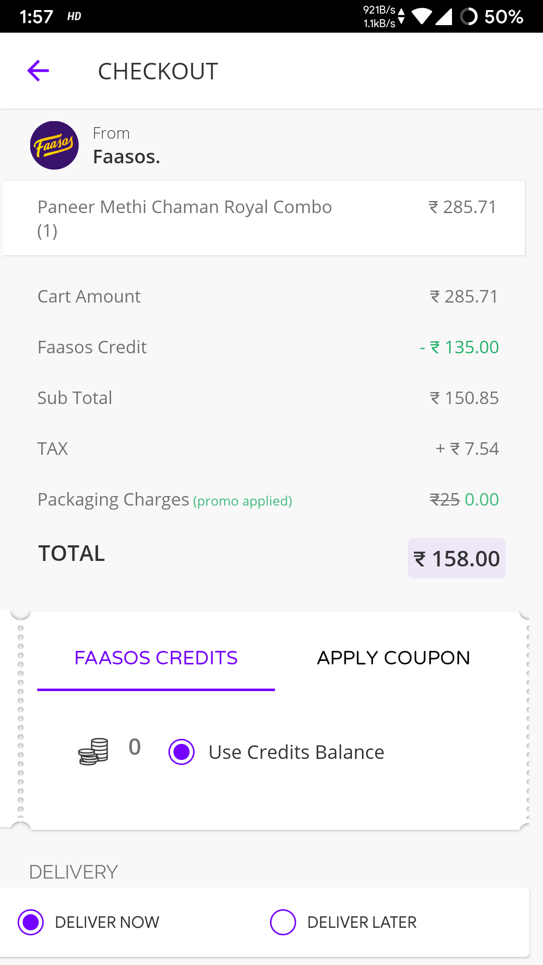 Faasos Referral Code: Earn Rs.150 by Refer and Earn Offer